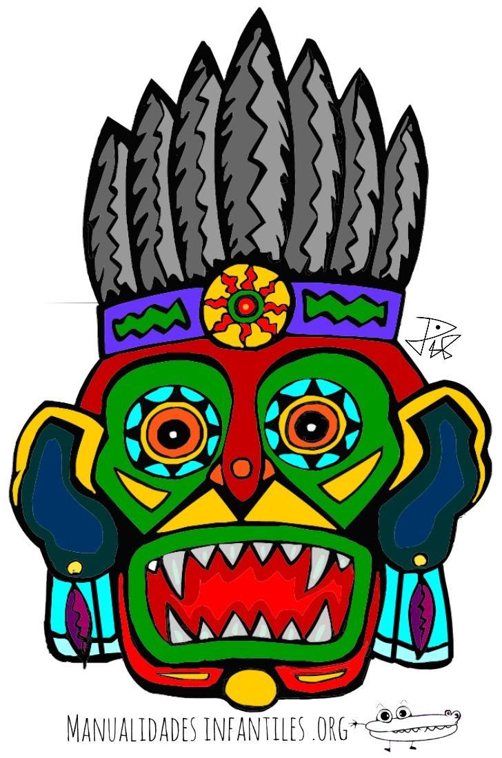 Mascara Maya para imprimir 1