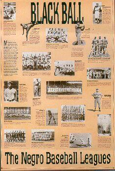 negro league baseball | Black Ball (Negro League Baseball Poster)