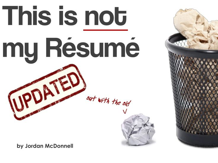 Almost makes me want to get a J-O-B just so i can make one of these: this-is-not-my-resume by Jordan McDonnell via Slideshare