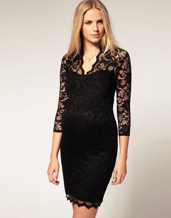 14578 venta superior 2014 de otoño de moda de estilo occidental las mujeres de tres cuartos de la manga v-cuello del color puro macrame mujeres atractivas atan el vestido