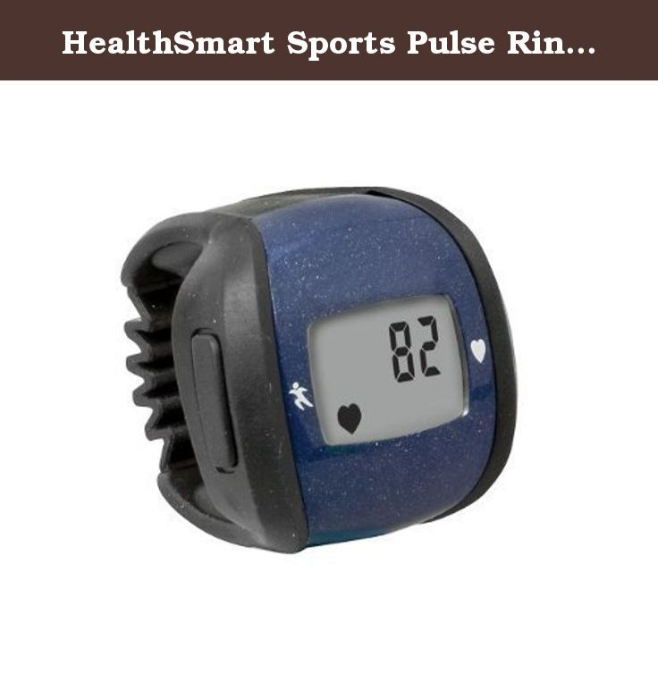 HealthSmart Sports Pulse Ring Heart Rate Monitor, Blue by HealthSmart. Easily monitor your heart rate during sports or exercise with this small, lightweight ring., Wear on your finger or on around your neck; carry with you on the included lanyard., Continuous heart rate display (30 to 250 beats per minute) lets you monitor your heart rate without stopping activity; maximum/minimum heart rate target zone., Monitor has a stopwatch, clock and count-up timer and expandable strap that fits…