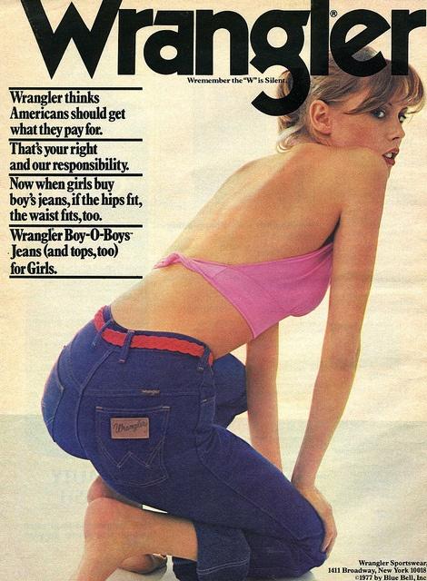 Wrangler Dream Jeans. Vintage ad.