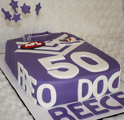 Fremantle dockers birthday cake. Afl party time.