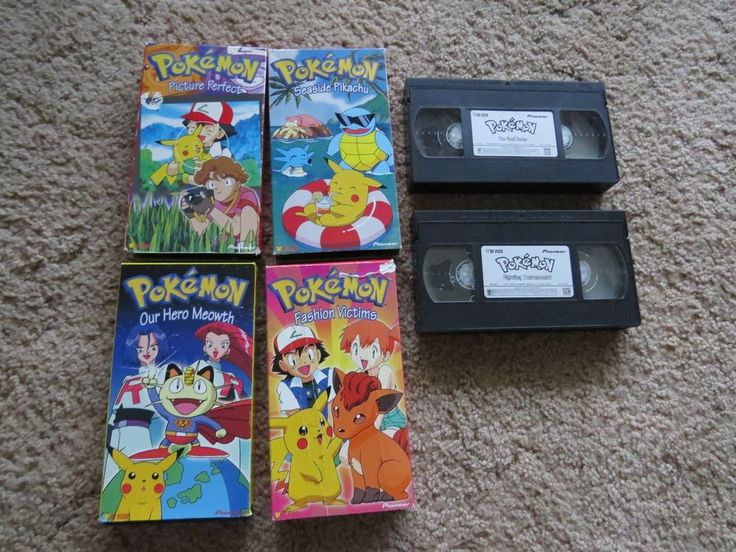 6 LOT Pokemon Anime TV Show Pikachu VHS VCR video tapes Movies Cartoon Animation
