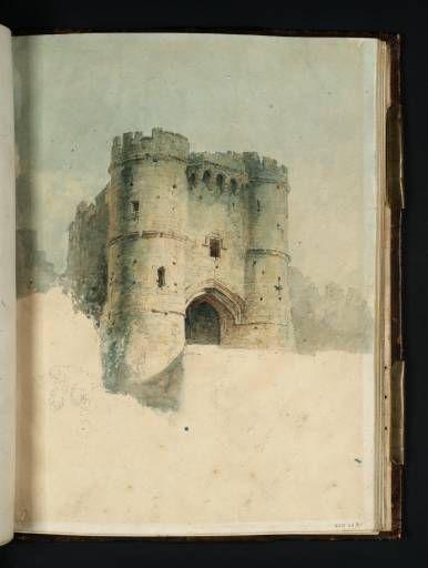'Carisbrooke Castle, Isle of Wight: The Gateway' 1795. JMW Turner