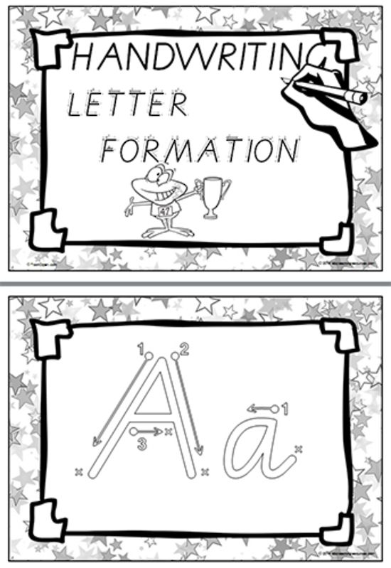 FONT OPTION | Year 2 | Handwriting | Letter Formation | Display | Student  Recording Charts | VIC Modern Cursive | PREMIUM RESOURCE: A-Z cards showing uppercase and lowercase letter formation. Each card has the sequence of movements to form the letter. Perfect for a student handwriting book or when a student needs more individualised attention for a specific learning need.