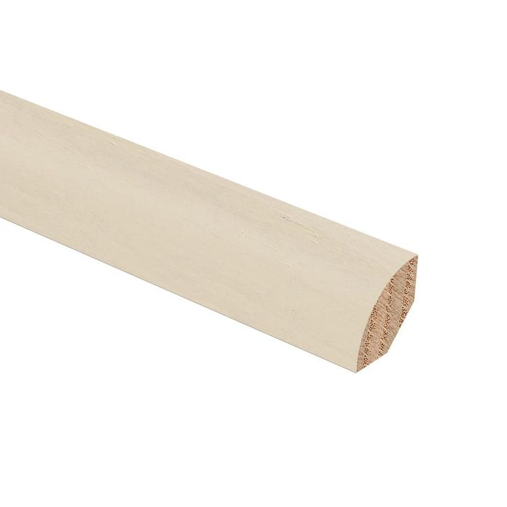 Strand Woven Bamboo White 3/4 in. Thick x 3/4 in. Wide x 94 in. Length Hardwood Quarter Round Molding
