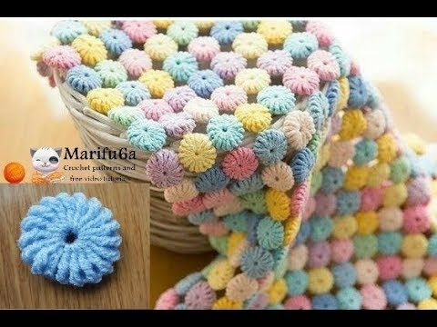 How to crochet circle afghan blanket free easy pattern tutorial for begginer - YouTube
