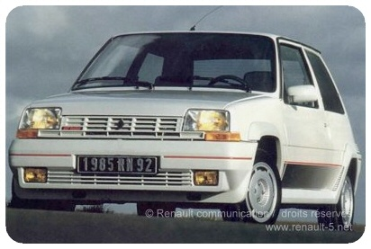 Bought my mad little Renault 5 GT turbo from my older brother in 1997.  Crashed it twice, much due to the insane turbo fun.