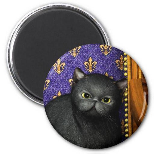 Black Cat 1 Refrigerator Magnet