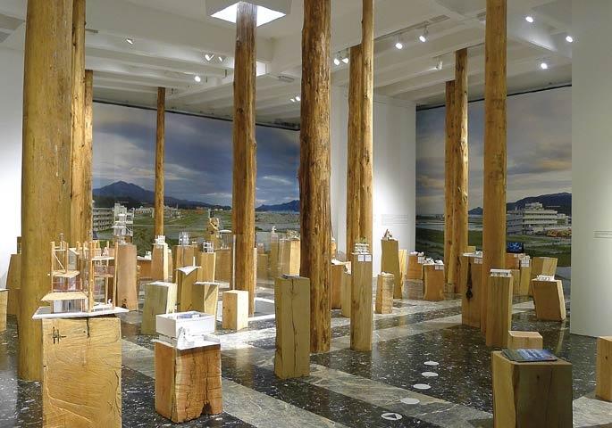 Expondo fotografias, vídeos, modelos e desenhos arquitetônicos, o pavilhão japonês foi hábil em organizar a informação em diferentes níveis de leitura