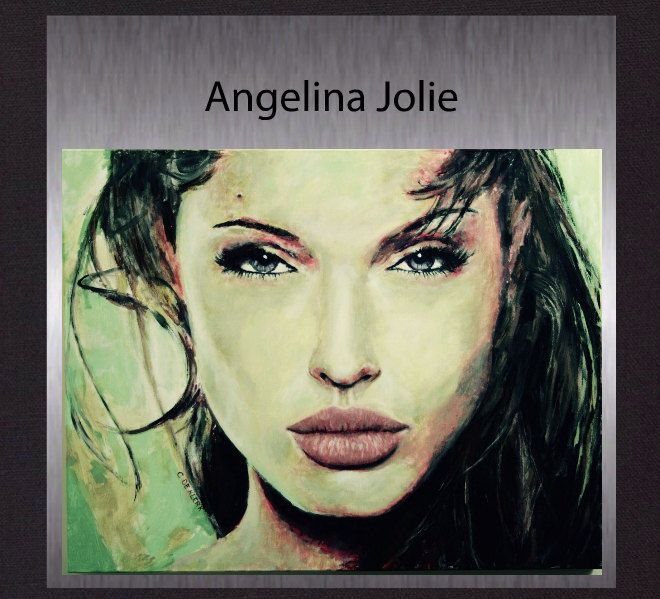 Angelina Jolie - Large Original Modern Colorful  Portrait. Abstract Painting not a print. Gallery Quality Fine Art. Free Shipping. by ElcoStudio on Etsy