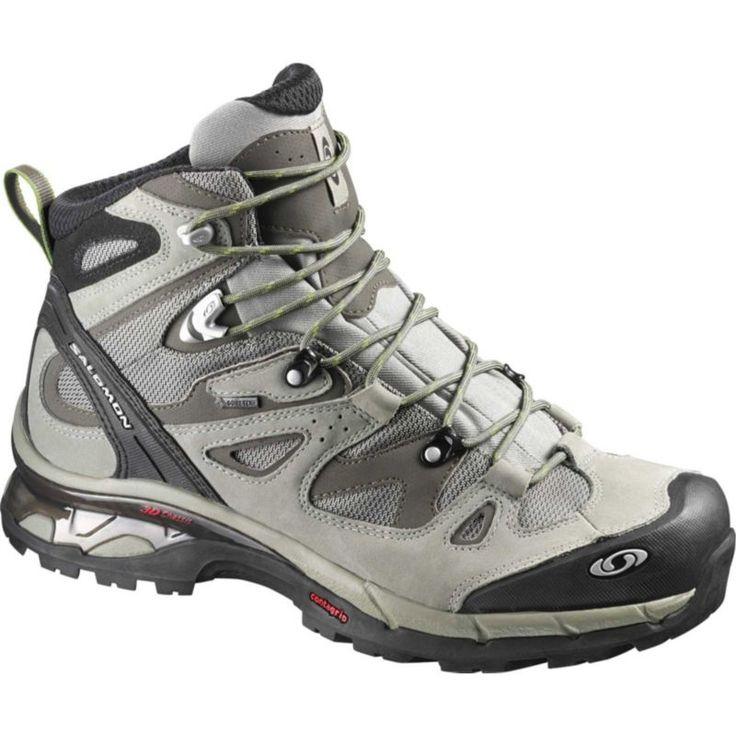 Salomon Men's Comet 3D Mid Gore-TEX Hiking Boots, Dark Titanium/Swamp/Turf Green