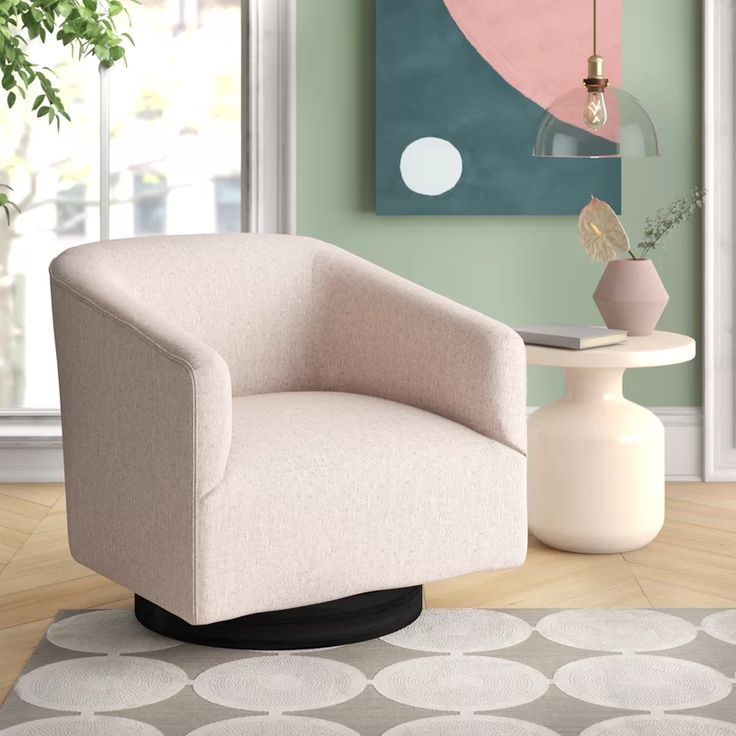 Kylie Swivel Barrel Chair in 2020 | Swivel barrel chair ...