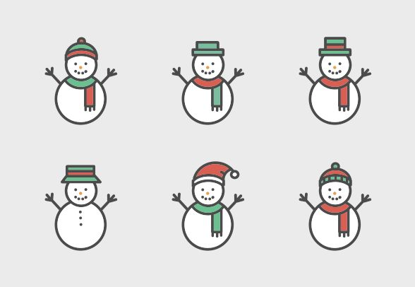 Download these cute snowman vector icons and more at https://www.iconfinder.com/lsedesigns