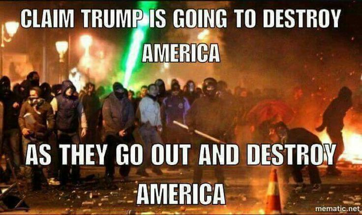 "It is NEVER the conservatives who are out in the streets looting, destroying and burning businesses, injuring other people,  desecrating our beloved American flag, nor using the foulest of language....NO, but it is the liberal (radical, socialist thugs and their paid protesters) who are out when ever something doesn't go their way. Take note: when the American ""deplorable"" citizens stand shoulder to shoulder and lock arm saying ""WE HAVE HAD ENOUGH....WE WANT OUR COUNTRY BACK"" you will…"