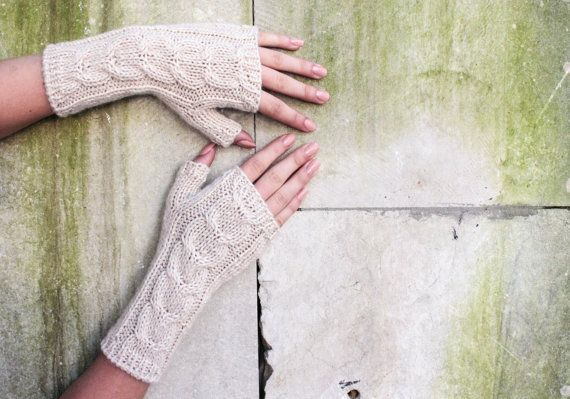 Ivory White Woolen Gloves For Women Long Warm Olive Knitted Gloves Yellow Gloves Gifts For Women