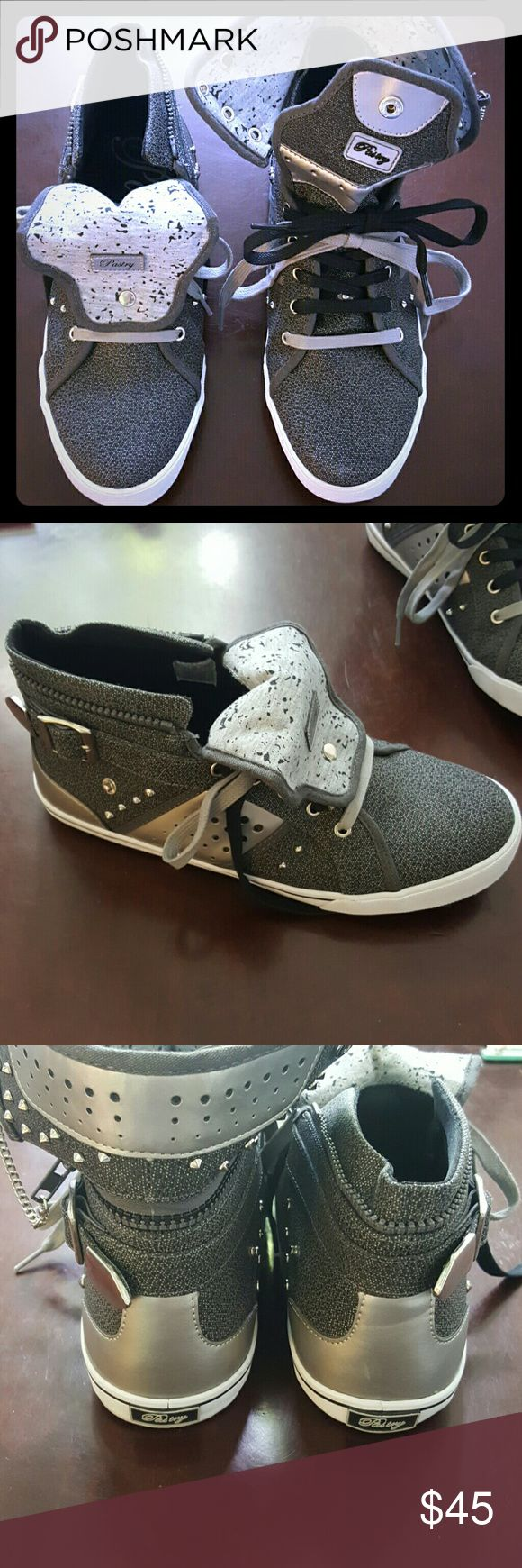 Pastry Shoes Ultra hip Super cute practically brand new pastry woman's shoes. You can mix it any way you like. With or without the hightop (zips and unzips to add or remove), with the tongue up or down... Snaps in place. Pastry   Shoes Sneakers