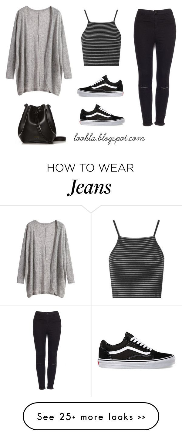 """""""Black jeans outfit"""" by laurasanda on Polyvore featuring Mode, Topshop, Pull&Bear, Vans und Rachael Ruddick"""