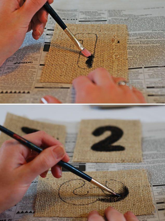 DIY Burlap Table Numbers - Wedding Project Tutorial