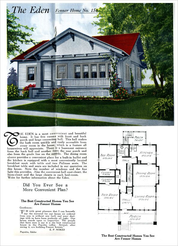 Eden 1921 READY BUILT HOUSE COMPANY BY FENNER