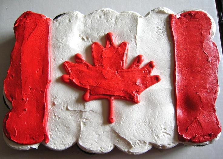 The Canada Day Cupcake Cake, yummy