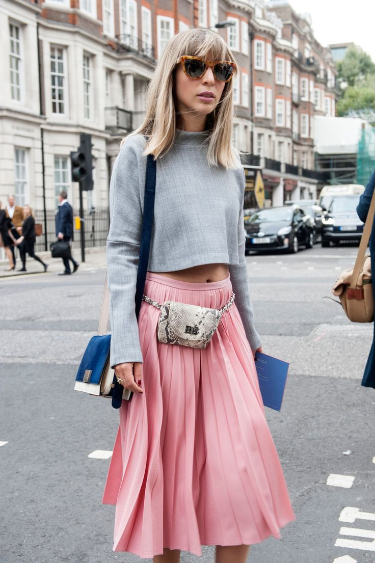 Fanny Pack // Street Style at London Fashion Week Spring 2015