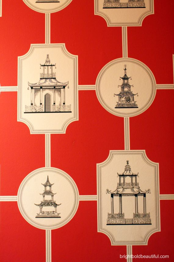 #Thibaut #Wallpaper colors: red white black #decorating