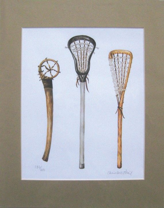 set of lacrosse sticks