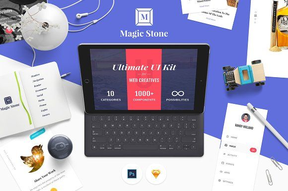 Magic Stone UI Kit by UI Chest on @creativemarket