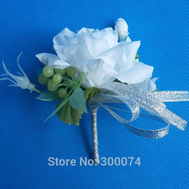 Seda Ramillete y flor en el ojal para el Novio o Padrinos de Boda Boutonniere Decorativo Artificial Rose Bud Flores Ramillete Para Los Hombres ZSX