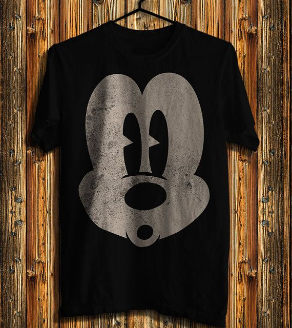 Classic Mickey Mouse Surprised Face Men's T-shirt, Mickey Mouse Disney T-shirt, Awesome Shirt