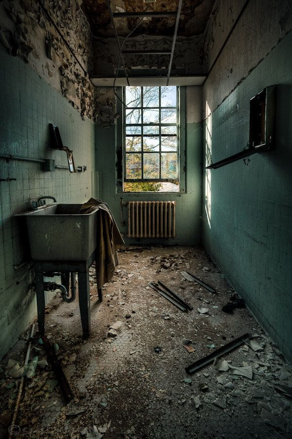 Abandoned Asylum Janitors Closet Urban Exploration Print, Color Photography, Green Teal Signed Free Shipping. $39.00, via Etsy.