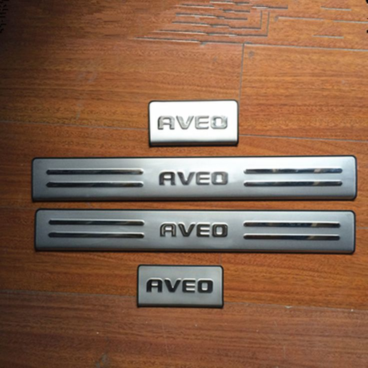 4PCS/SET Stainless Steel Door Sill Scuff Plate for Chevrolet AVEO 2011-2014 Car Styling Accessories #Affiliate