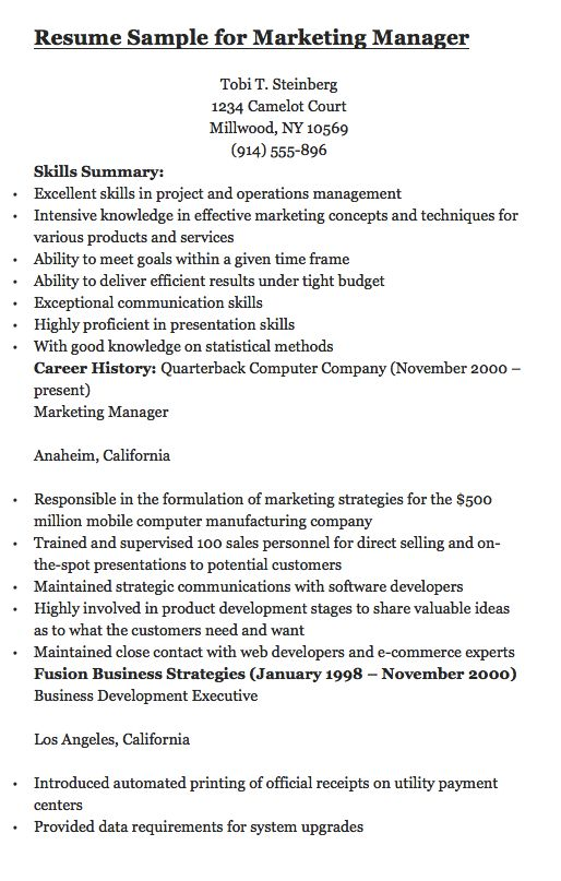 Tobi T Steinberg 1234 Camelot Court Millwood, NY 10569 (914) 555 - operations management resume
