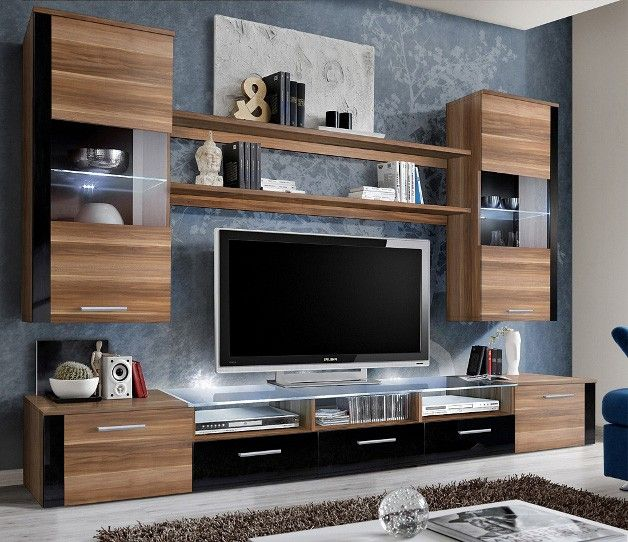 690 best images about on pinterest modern wall units tvs and african ebony for Black wall units for living room