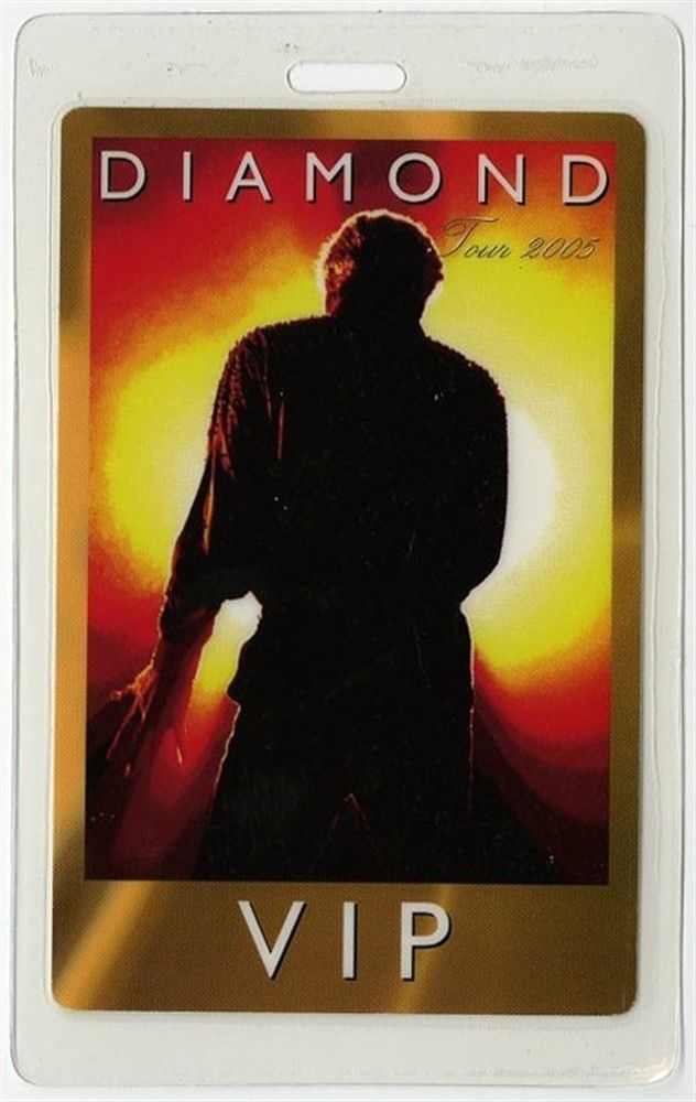 Neil Diamond Authentic 2005 Concert Tour Laminated Backstage Pass Vip Neal Diamond