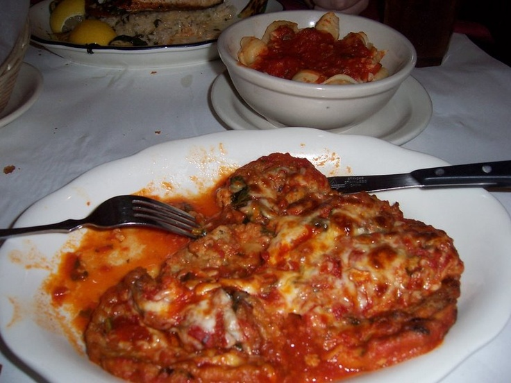 "La Scarola - 721 West Grand - the best lasagna.  Long wait, but worth it.  Many celebs have frequented here for their ""family"" atmosphere and great Italian food.  Have a drink, while you wait, at Emmitt's Pub next door (featured on Oceans Eleven)"