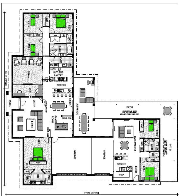 Best 8 house designs with granny flat images on pinterest for House plans granny flats attached