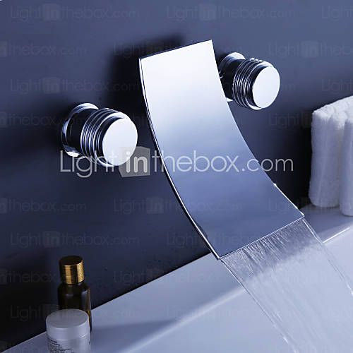 Waterfall Widespread Contemporary Bathtub Faucet (Chrome Finish) - USD $ 134.99