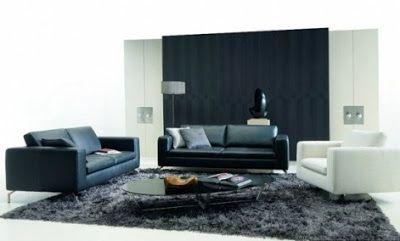 Cómo Decorar el Living Room en Blanco y Negro : La Sala y Comedor