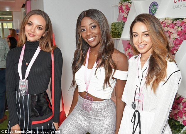 VIP ladies:Jade Thirlwall, AJ Odudu and Danielle Peazer all looked glamorous for the prestigious lounge