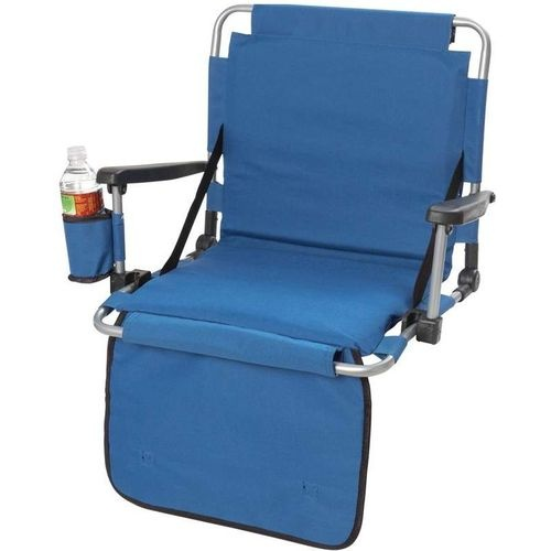 Coleman Portable Deck Chair Bean Bag Lounger Details About Black Cushion Stadium Arm Cup Holder, Outdoor Folding Bleacher Padded Seat ...