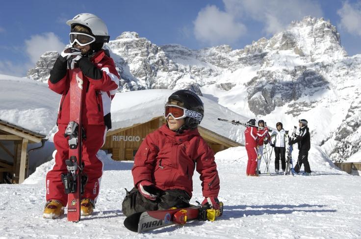 Sulla neve della Croda Rossa!