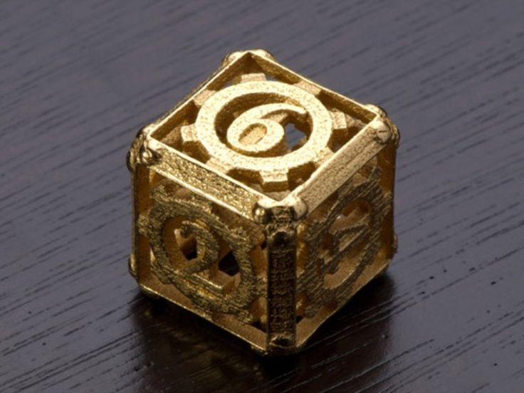 Steampunk d6 dice | 3D Printing Shop | i.materialise