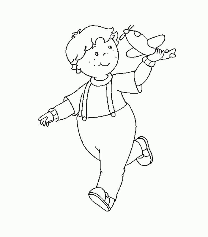 Print And Color A Picture Of Leo From Caillou With His Toy Airplane Take This Fun Coloring Page You In The Car For On Go Entertainment