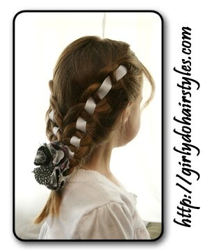 Girly Do's By Jenn: Ribbon Braid