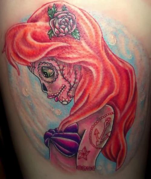 #sugarskull #tattoo #littlemermaid