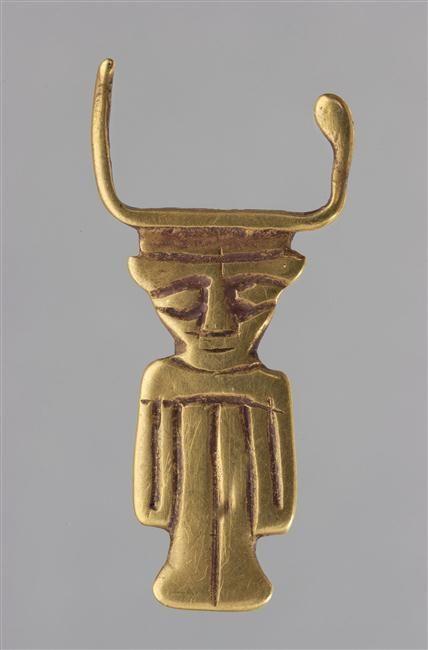 Emblème de la déesse Hathor - moyen empire (vers 2033-1710 av J.-C.) - Réunion des Musées Nationaux-Grand Palais -