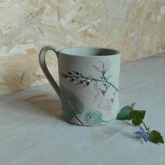 Guarda questo articolo nel mio negozio Etsy https://www.etsy.com/it/listing/536826719/botanical-mug-campanulagres-stonewaretea